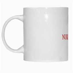 NUKE IRAN RED White Mug by mugart