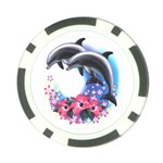 dolphins1 Poker Chip Card Guard