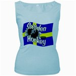 Sweden Hockey Women s Baby Blue Tank Top