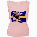 Sweden Hockey Women s Pink Tank Top