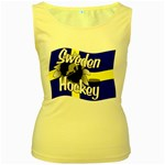 Sweden Hockey Women s Yellow Tank Top