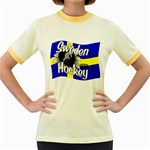Sweden Hockey Women s Fitted Ringer T-Shirt