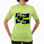Sweden Hockey Women s Green T-Shirt