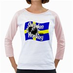 Sweden Hockey Girly Raglan