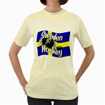 Sweden Hockey Women s Yellow T-Shirt