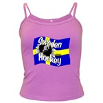 Sweden Hockey Dark Spaghetti Tank