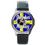 Sweden Hockey Round Metal Watch