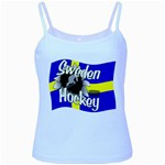 Sweden Hockey Baby Blue Spaghetti Tank