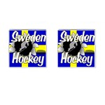 Sweden Hockey Cufflinks (Square)