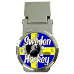 Sweden Hockey Money Clip Watch