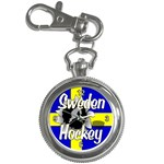 Sweden Hockey Key Chain Watch