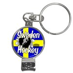 Sweden Hockey Nail Clippers Key Chain