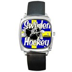Sweden Hockey Square Metal Watch