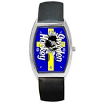 Sweden Hockey Barrel Style Metal Watch