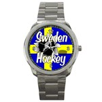 Sweden Hockey Sport Metal Watch