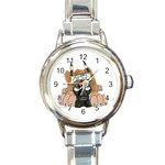 CF Pup space for rent Round Italian Charm Watch