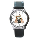 CF Pup space for rent Round Metal Watch