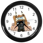CF Pup space for rent Wall Clock (Black)