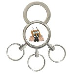 CF Pup space for rent 3-Ring Key Chain