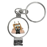 CF Pup space for rent Nail Clippers Key Chain