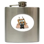 CF Pup space for rent Hip Flask (6 oz)