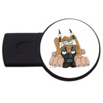 CF Pup space for rent USB Flash Drive Round (4 GB)