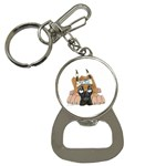 CF Pup space for rent Bottle Opener Key Chain
