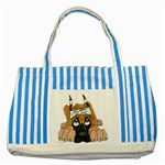 CF Pup space for rent Striped Blue Tote Bag
