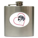NMtlMrl Dots Heartline Hip Flask (6 oz)