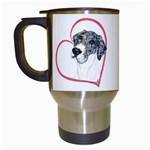 NMtlMrl Dots Heartline Travel Mug (White)