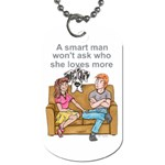 NH Smart Man Dog Tag (One Side)