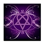 Heartagram1024x768 Tile Coaster