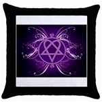 Heartagram1024x768 Throw Pillow Case (Black)
