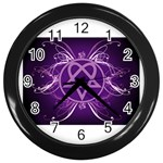 Heartagram1024x768 Wall Clock (Black)