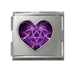 Heartagram1024x768 Mega Link Heart Italian Charm (18mm)