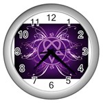Heartagram1024x768 Wall Clock (Silver)