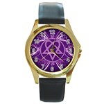 Heartagram1024x768 Round Gold Metal Watch