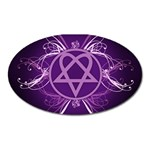 Heartagram1024x768 Magnet (Oval)