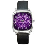 Heartagram1024x768 Square Metal Watch
