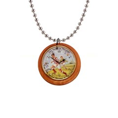 round clock text 1  Button Necklace by D617182A