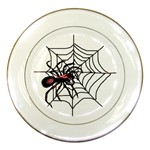 Spider in web Porcelain Plate