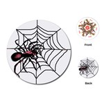 Spider in web Playing Cards (Round)