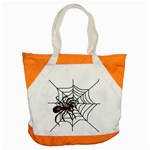 Spider in web Accent Tote Bag