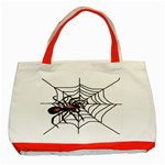 Spider in web Classic Tote Bag (Red)