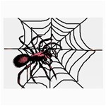 Spider in web Glasses Cloth (Large)