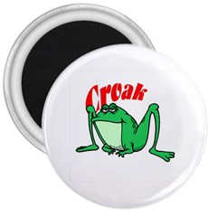 Croak frog 3  Magnet by zooicidal