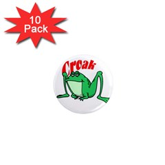 Croak frog 1  Mini Magnet (10 pack)  by zooicidal