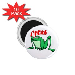 Croak frog 1.75  Magnet (10 pack)  by zooicidal