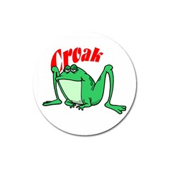 Croak frog Magnet 3  (Round) by zooicidal