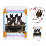 Three donks Playing Cards Single Design